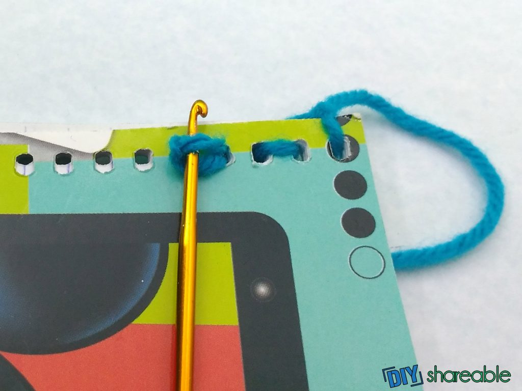 Creating backstitch for connecting your DIY notebook