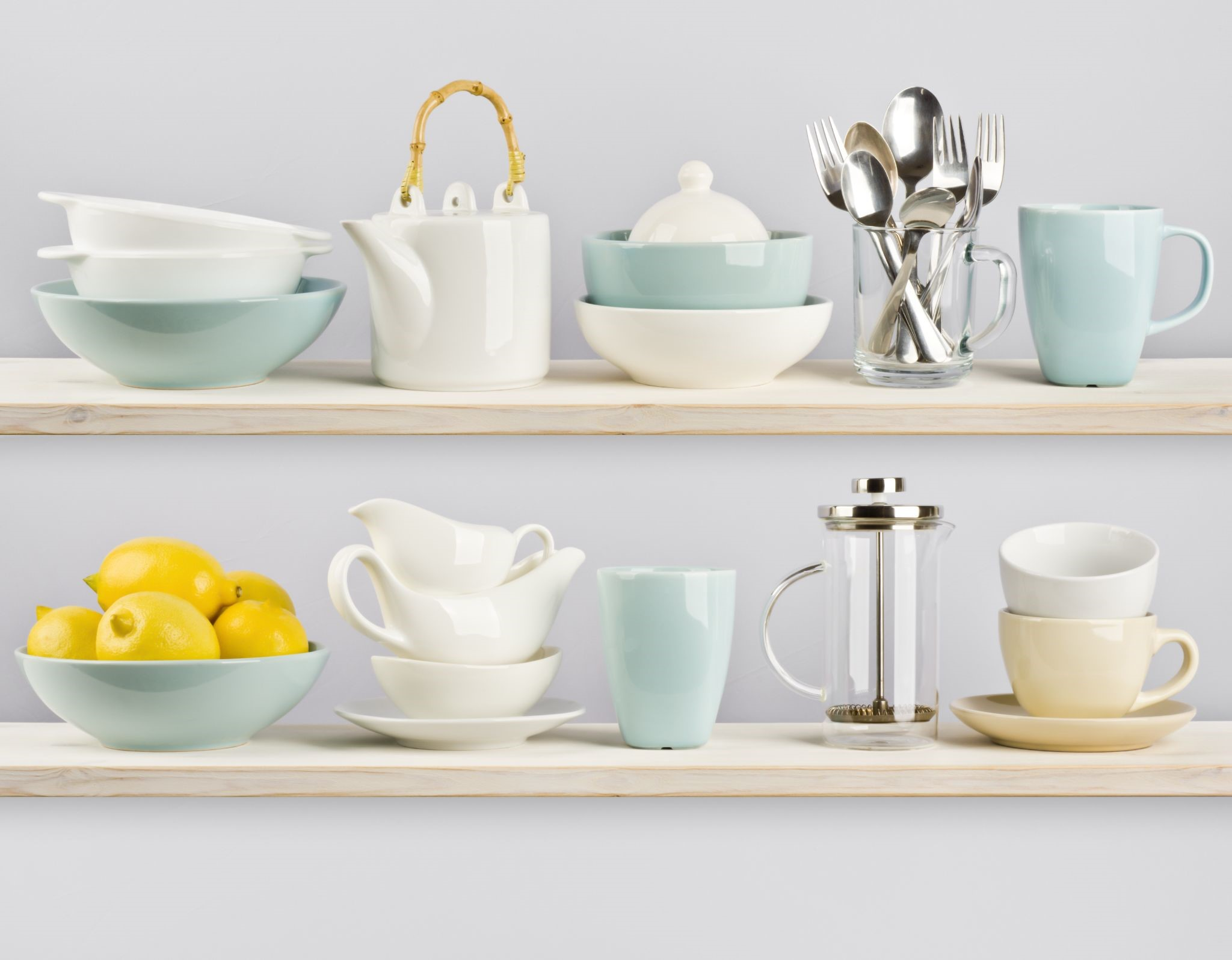a bunch of kitchenware