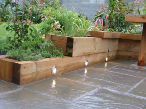Raised Flower Bed Out of Wooden Boxes