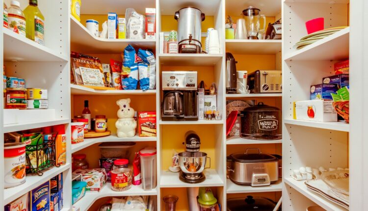 an organized small pantry