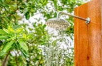 Picture of an outdoor shower head