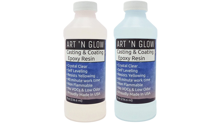 Art 'N Glow Clear Casting and Coating Epoxy Kit, 16 Ounces