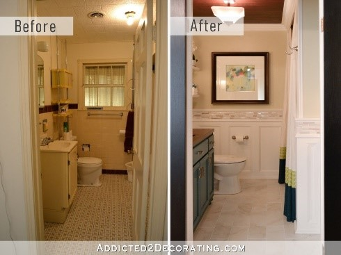 a before and after bathroom makeover bathroom