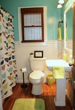 an after makeover of a bathroom