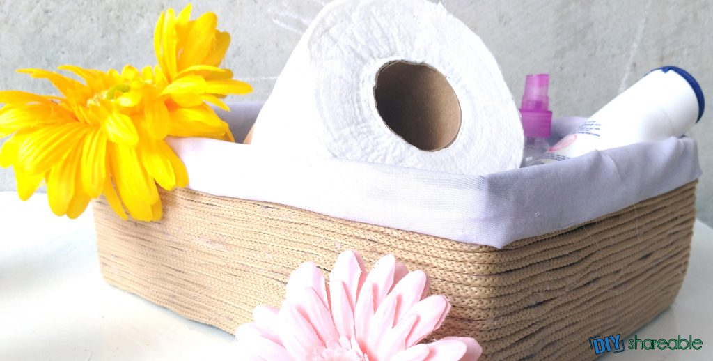 Easy to Make DIY Storage Basket from a shoe box