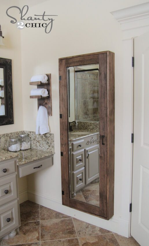 Trend  Bathroom Mirror Storage Case