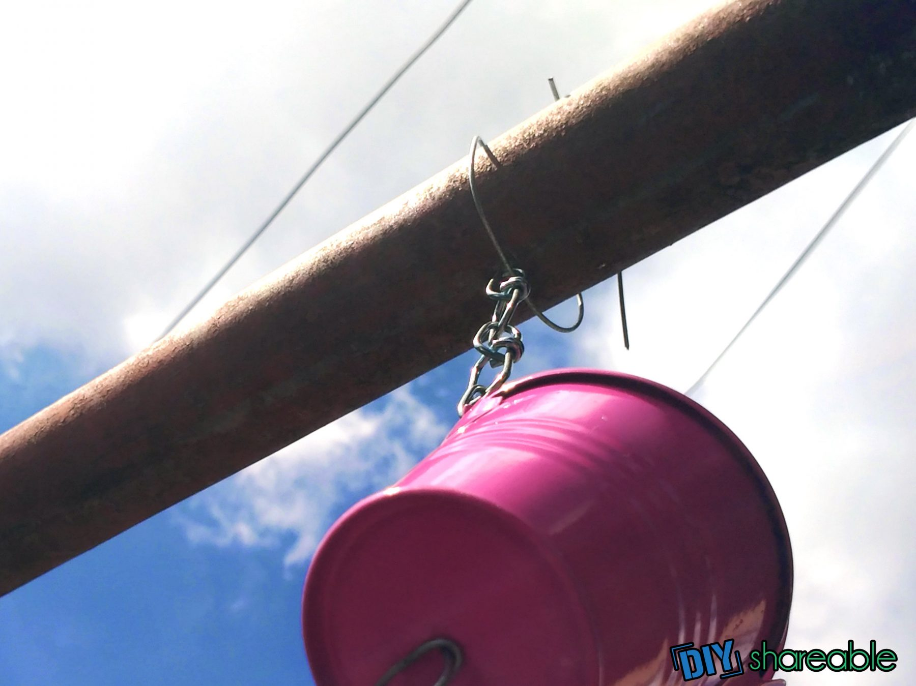 how to hang your DIY Rain Chain