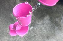 DIY Rain Chain made out of buckets