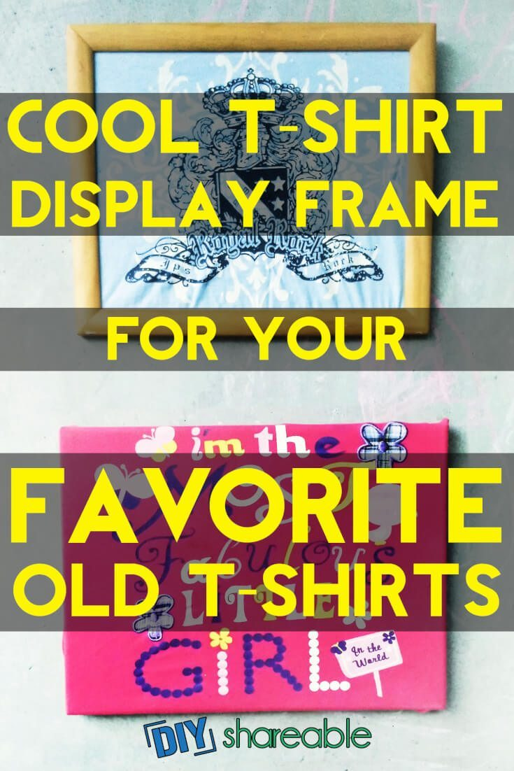 Pinterest image for Cool T-Shirt Display Frames For Your Favorite Old T-Shirts