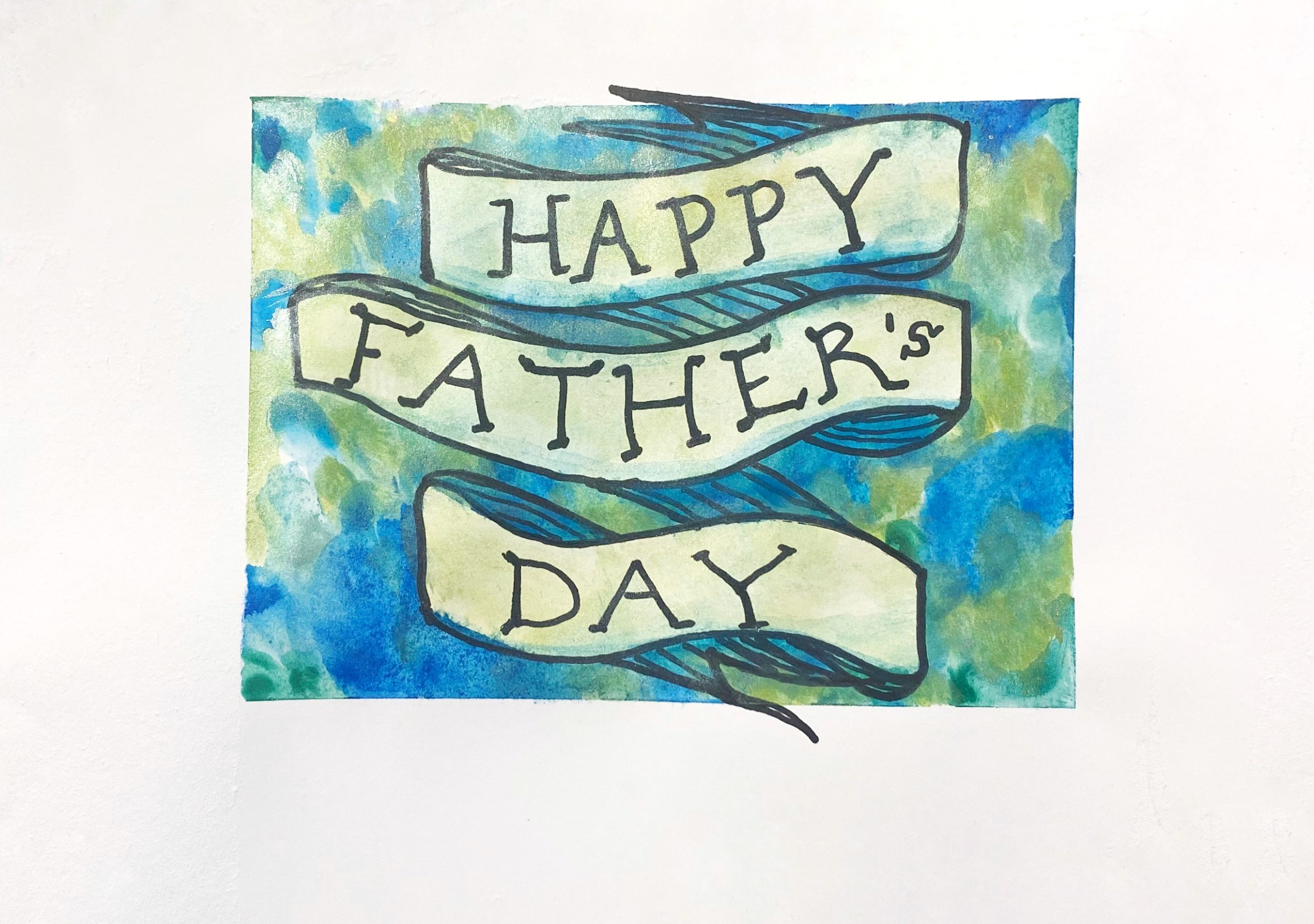 DIY Father's Greeting Day Card