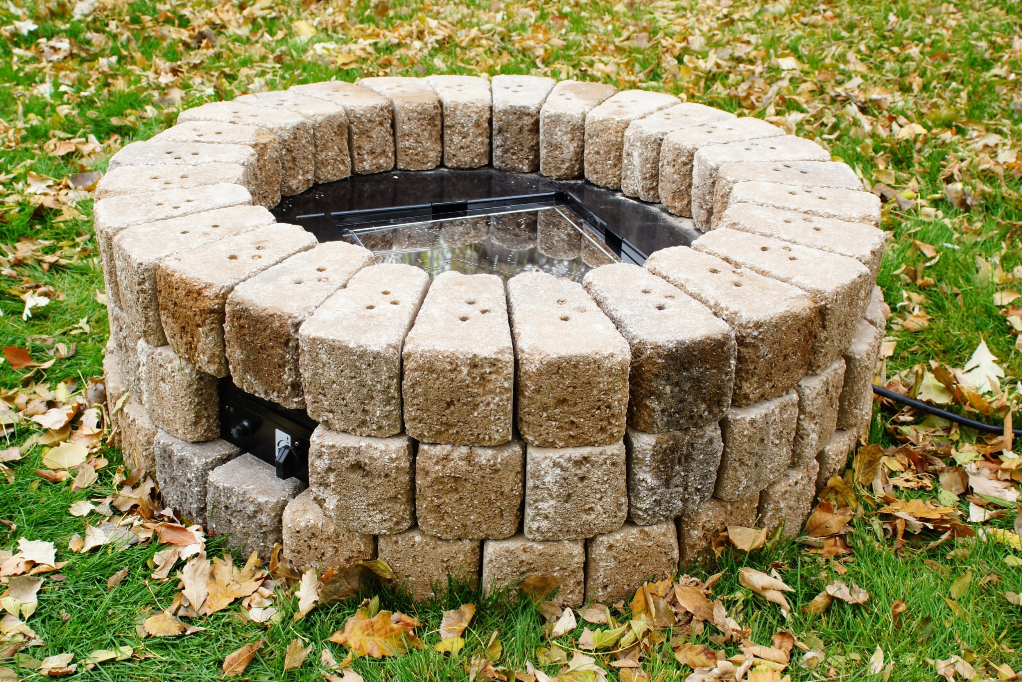 photo of an outdoor concrete fire pit