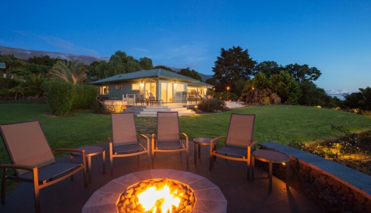 photo of an outdoor fire place
