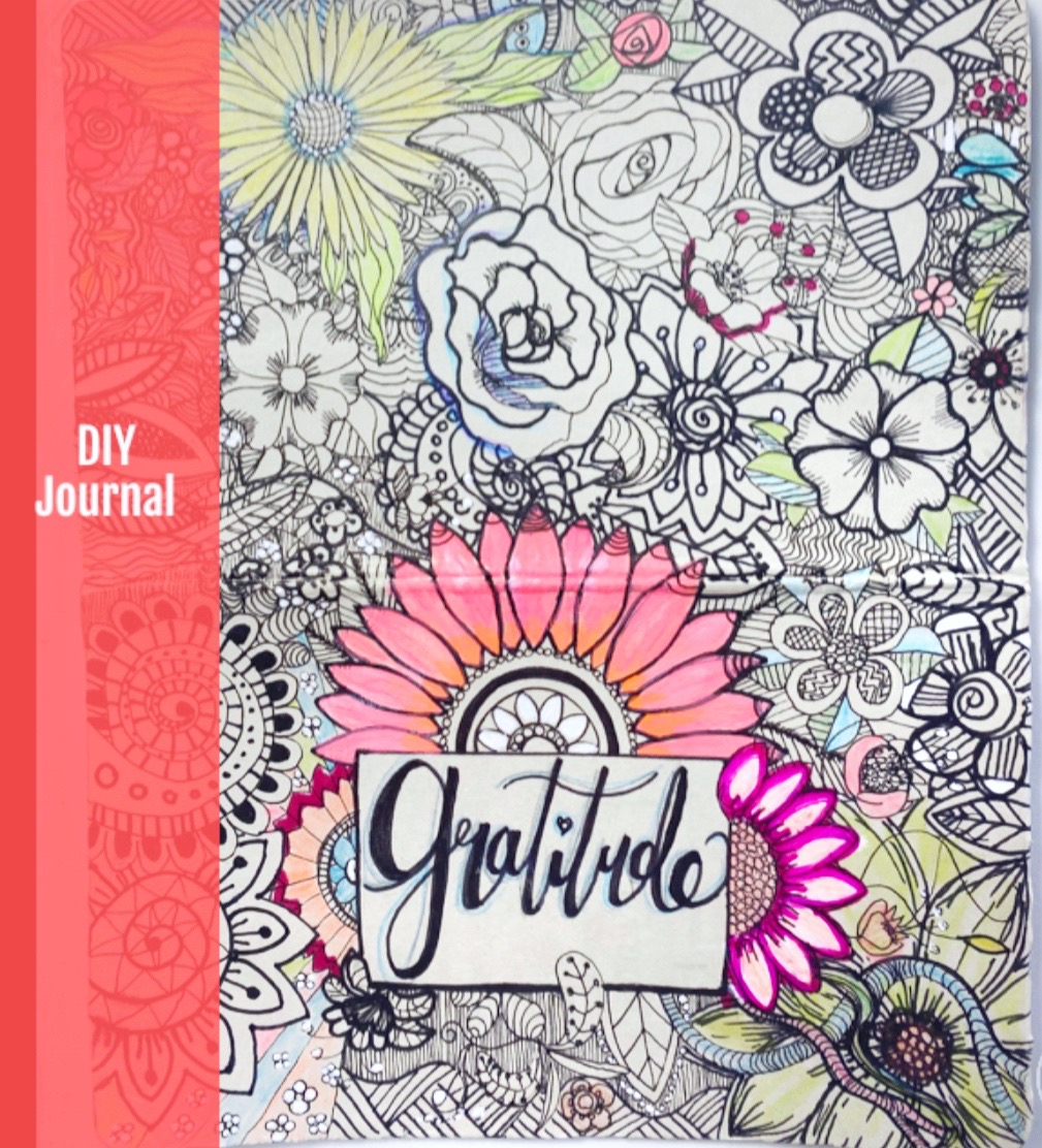 DIY Gratitude Journal Cover with healing benefits