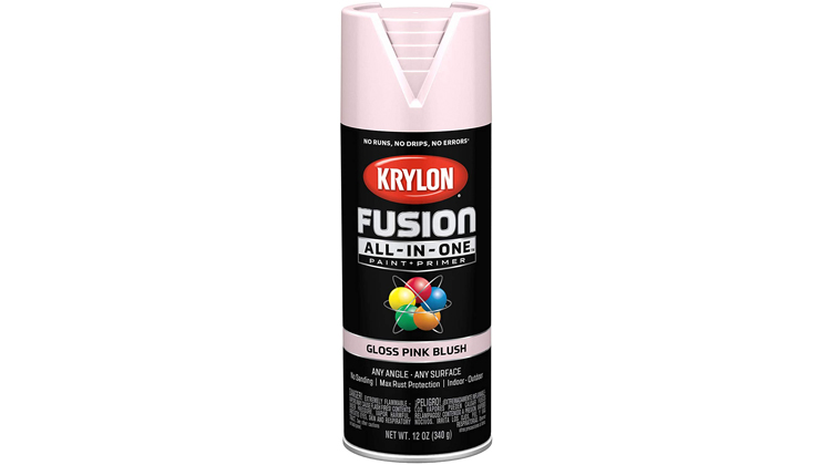 Krylon Fusion All-in-One Spray Paint, Satin Pink Blush
