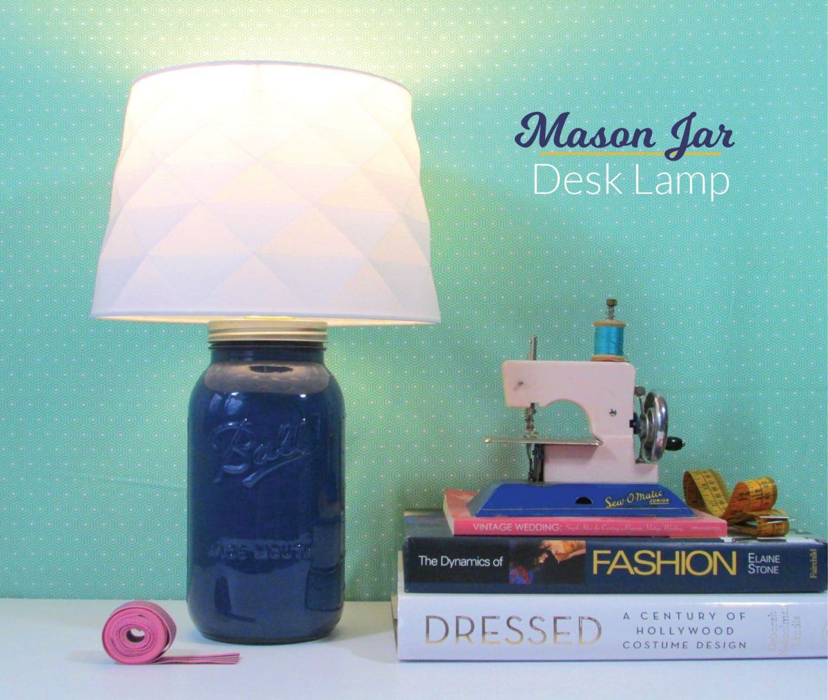 Mason jar lamp turned into a lamp