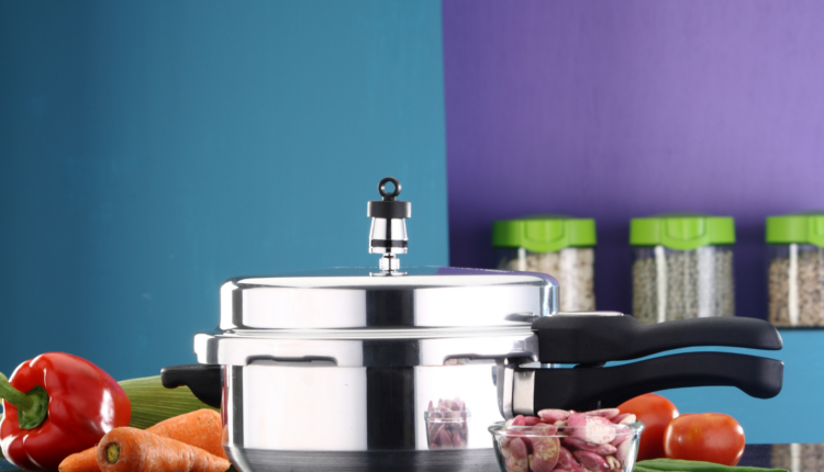 a small pressure cooker over the counter top