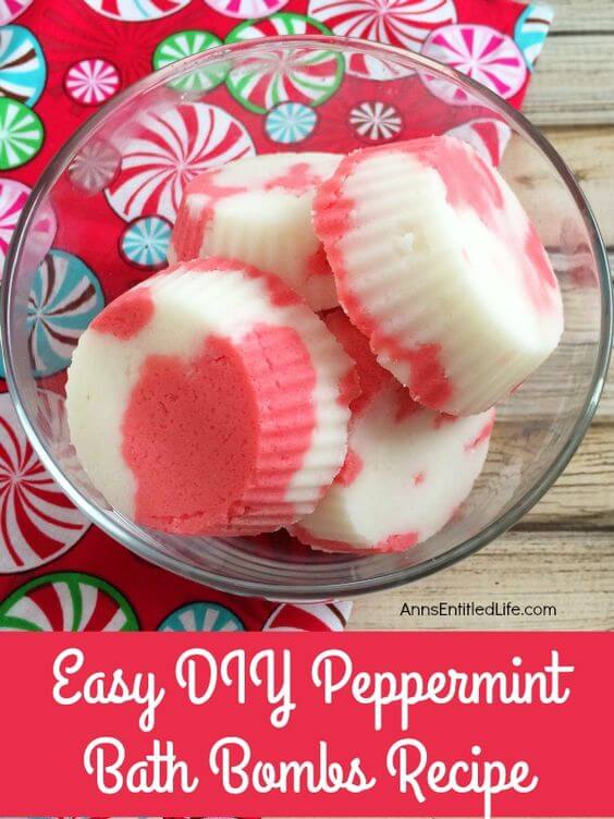 Enjoy that wonderful peppermint scent with these bath bombs - perfect for holiday gifts.