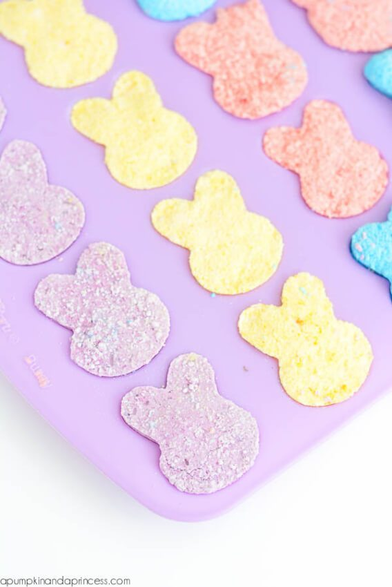 Perfect for Easter, these bunny bath bombs are colorful and festive.