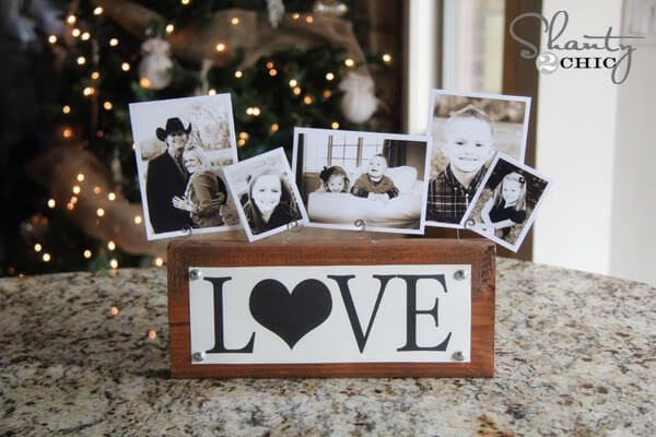 customized photo frame holder love wood