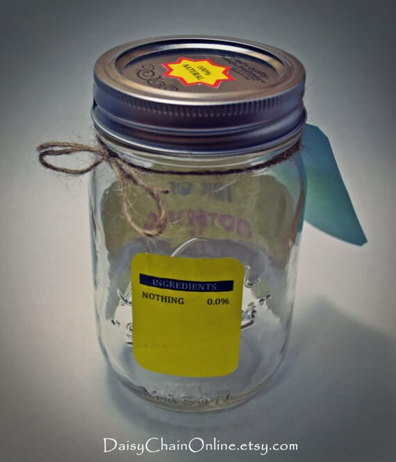 mason jar nothing gag gift