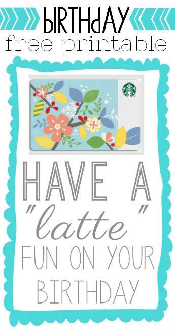 latte fun printable birthday card