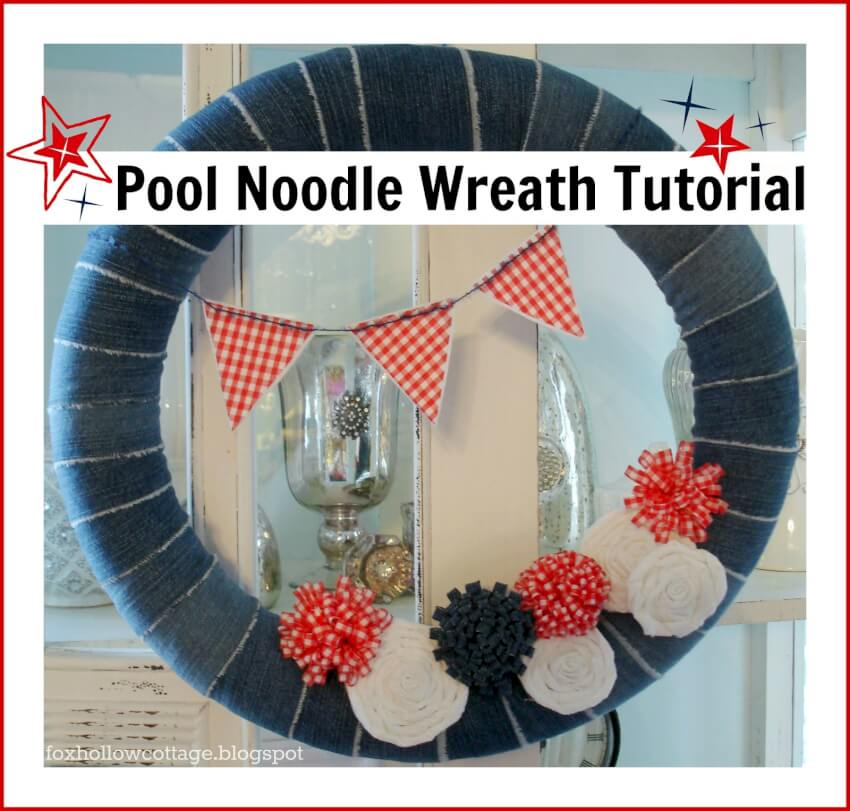 wreath made from pool noodles