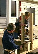 Installing and securing posts for deck railing
