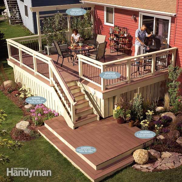 Recycling and improving an existing deck.
