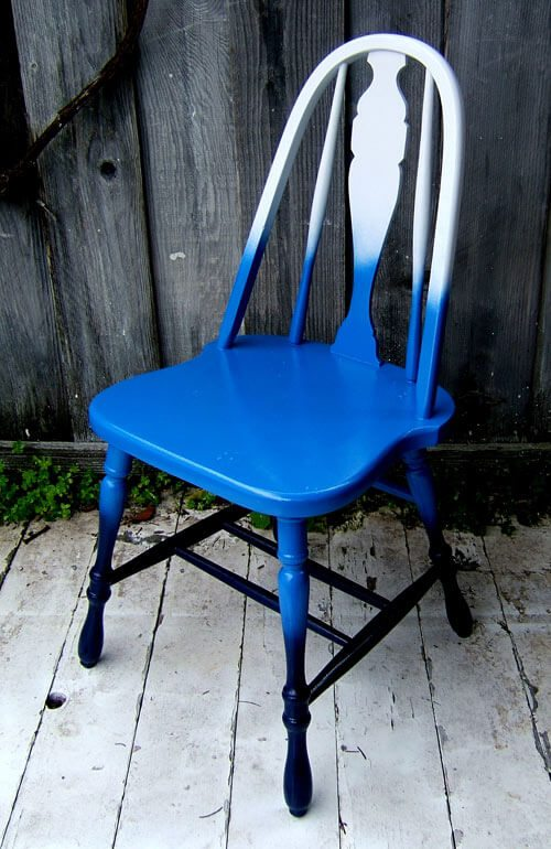This ombre chair has a new lease on life, and this painting technique can be applied to any type of upcycled furniture.