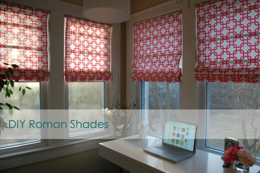 These roman shades add both function and beauty at a very affordable price.