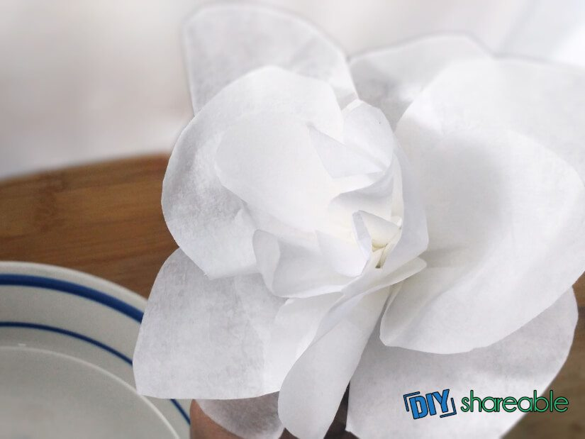 begin shaping the flower to your preference