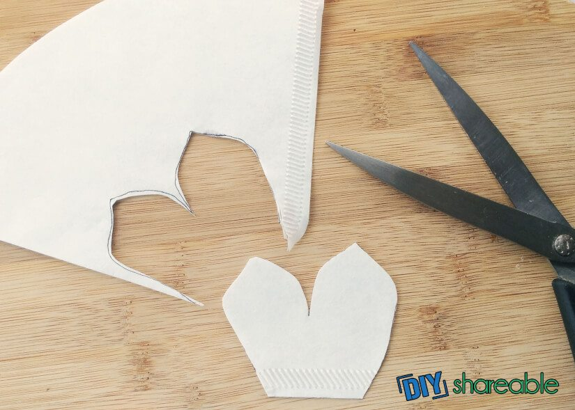 cut out petal template you just created for the flowers