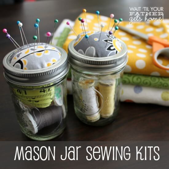 mason jar sewing kits