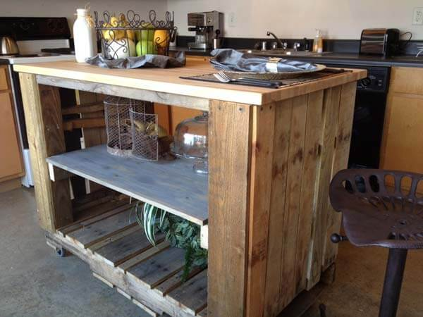 Kitchen Island Out Of Pallets 23 unique diy pallet furniture ideas (that will inspire you)