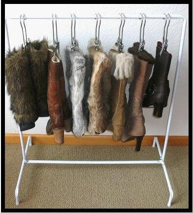 Hanging Boot Holders Closet Organization