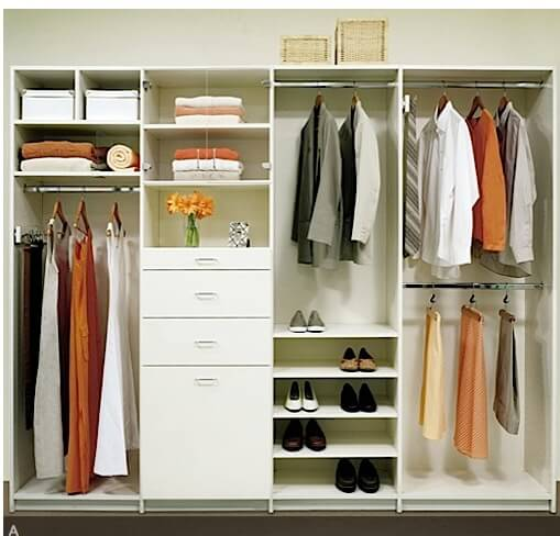 All White Organized Closet Storage