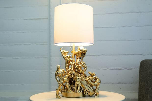 action figure gold lamp