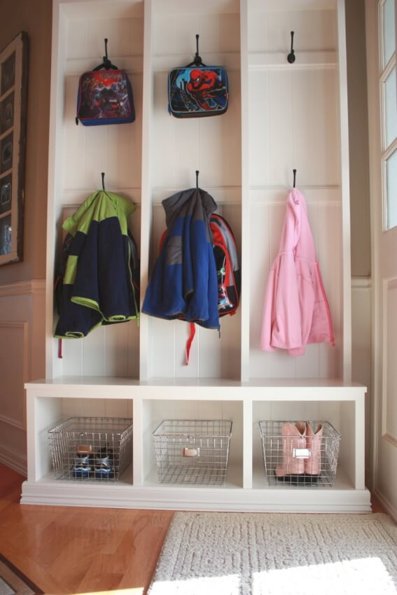 Mudroom Storage Do It Yourself : Diy mudroom entryway storage ideas for very small