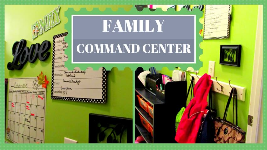 Video tutorial on creating a family command center