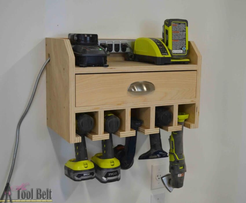 Power Tool Storage And Charging Station