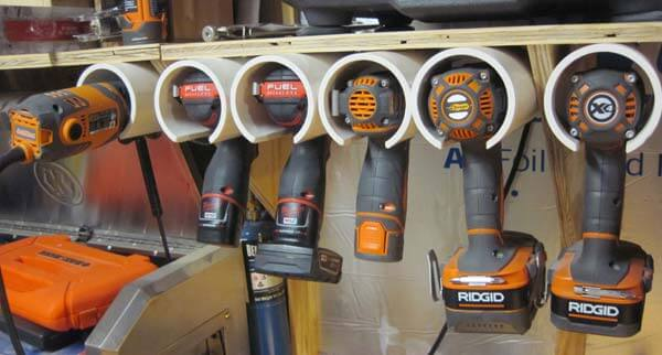 PVC Power Tools Storage