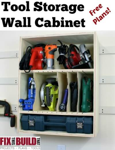 Power Tool Storage Wall Cabinet