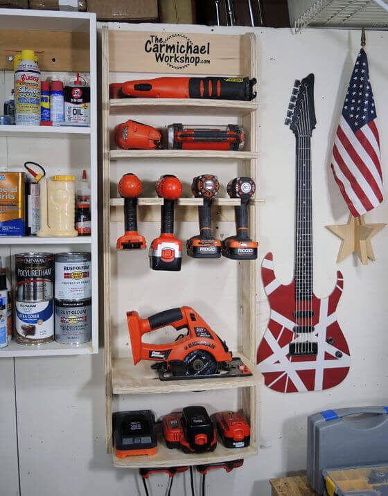 Power Tool Storage Shelf