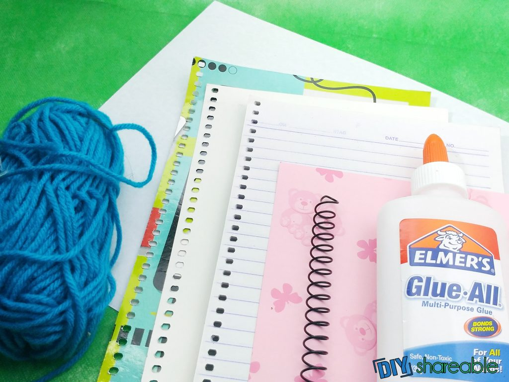 materials needed to make a personalized DIY notebook