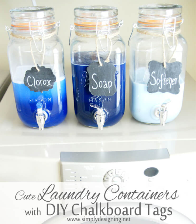 laundry soap containers in decanters