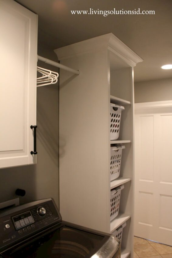 diy floor to ceiling laundry room shelving unit