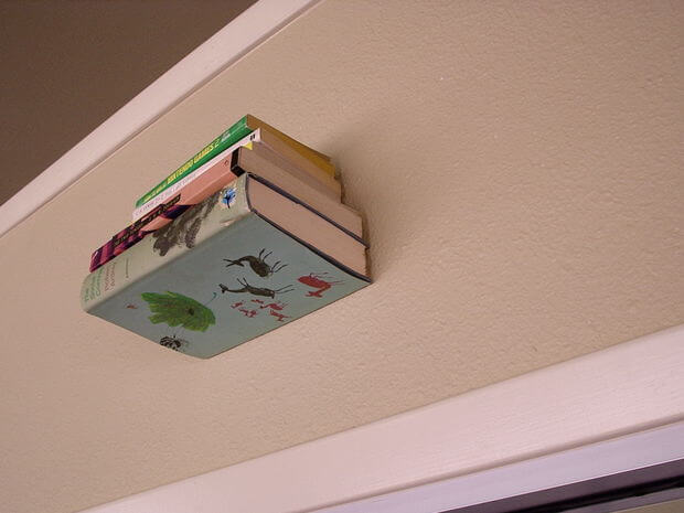 Create this invisible bookshelf and give the illusion of books floating in mid-air.