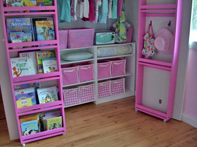 Take your closet shelving system to the next level by adding shelving to the BACK of the closet doors.
