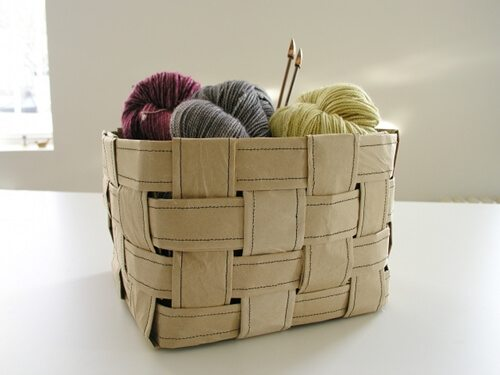 Create this sturdy paper storage basket using any type of paper you may already have around the house.