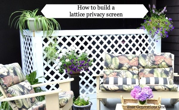 how to make a lattice privacy fence